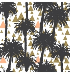 Tropical palm trees seamless background vector