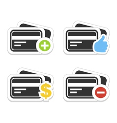 Icon a credit card vector