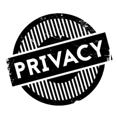 Privacy rubber stamp vector