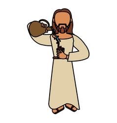 Jesus christ miracle catholic vector