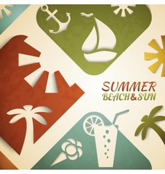 Abstract summer  retro beach vector