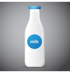 Bottle of milk isolated vector