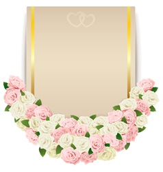 Wedding flower card vector
