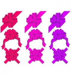 set of decorative bows vector
