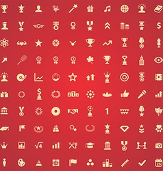 100 award icons vector