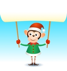 Monkey 2016 christmas new year banner vector