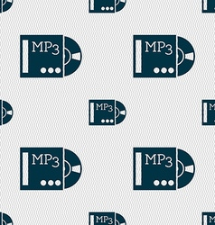 Mp3 player icon sign seamless abstract background vector