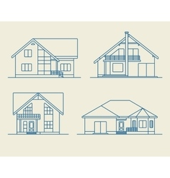 Houses linear 5 vector