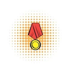 Medal comics icon vector