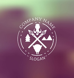 Nature adventure badge vector