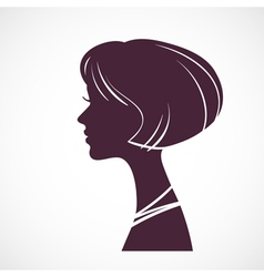 Girl silhouette head vector