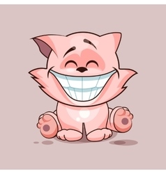 Cat with huge smile vector