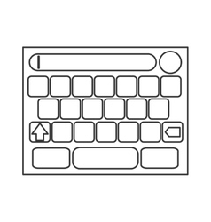 Touchscreen keyboard icon vector