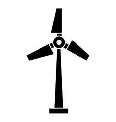 Windmill silhouette isolated icon design vector