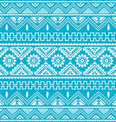 Blue native american ethnic pattern vector