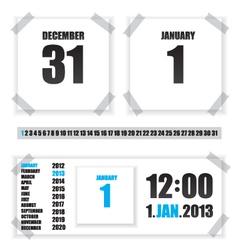 Calendar paper vector