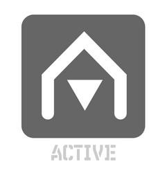 Active conceptual graphic icon vector