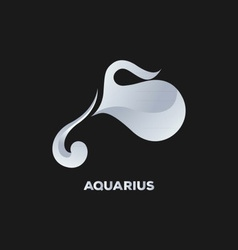 Aquarius Horoscope Icon vector image