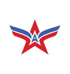 Arrow star realty wing logo vector