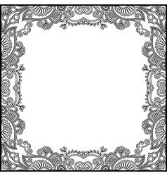 black and white floral vintage frame vector image vector image