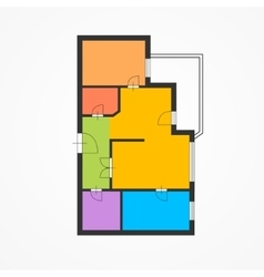 Colorful Flat Plan vector image