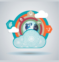 Design cloud computer made of numbers vector
