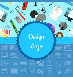digital art design with vector image vector image