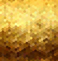 Gold honeycomb seamless pattern low poly geometry vector