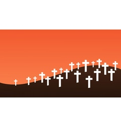 Graveyard background vector