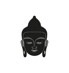 Head of Buddha isolated vector image