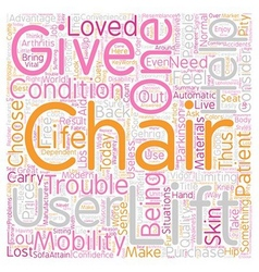 How to choose a lift chair text background vector
