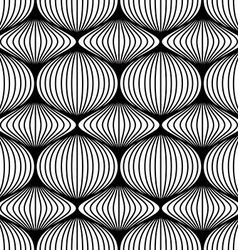 Lined balls seamless pattern vector image vector image