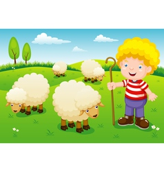 Little shepherd vector image vector image