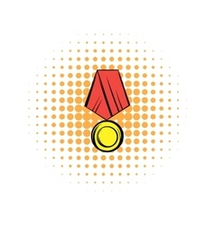 Medal comics icon vector image vector image