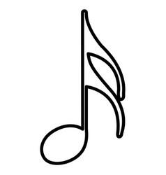Monochrome contour with semiquaver note vector