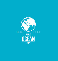 Ocean day blue background collection vector