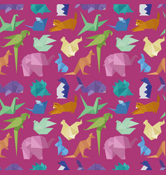 origami paper animals geometric game japanese toys vector image