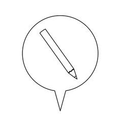 Pencil line icon education vector