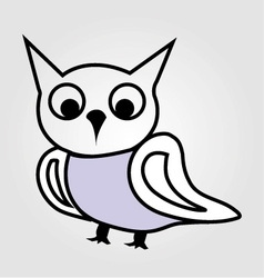 Pretty owl line drawing vector image