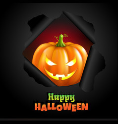 retro halloween poster vector image
