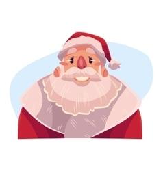 Santa claus face smiling facial expression vector
