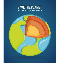 save the planet vector image