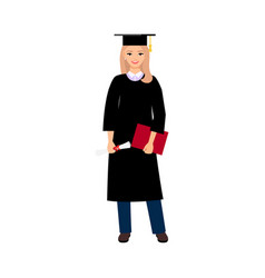 university female student graduate vector image