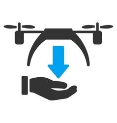 Unload Drone Icon vector image vector image