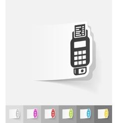 Realistic design element pos terminal vector