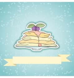 Pancakes invitation card vector