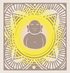 spring budda poster vector image