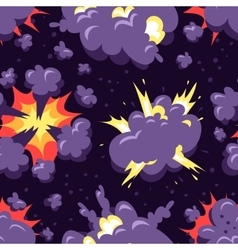 Boom icons seamless pattern explosion vector
