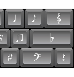Musical notes keyboard vector
