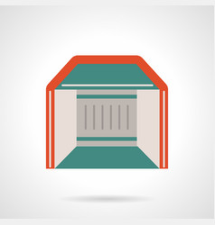 Mobile pavilion flat color icon vector